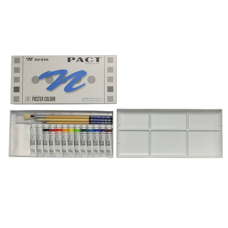 Set of 13 11ml 09361 12 color poster color PJF knicker set (japan import) Knicker paint