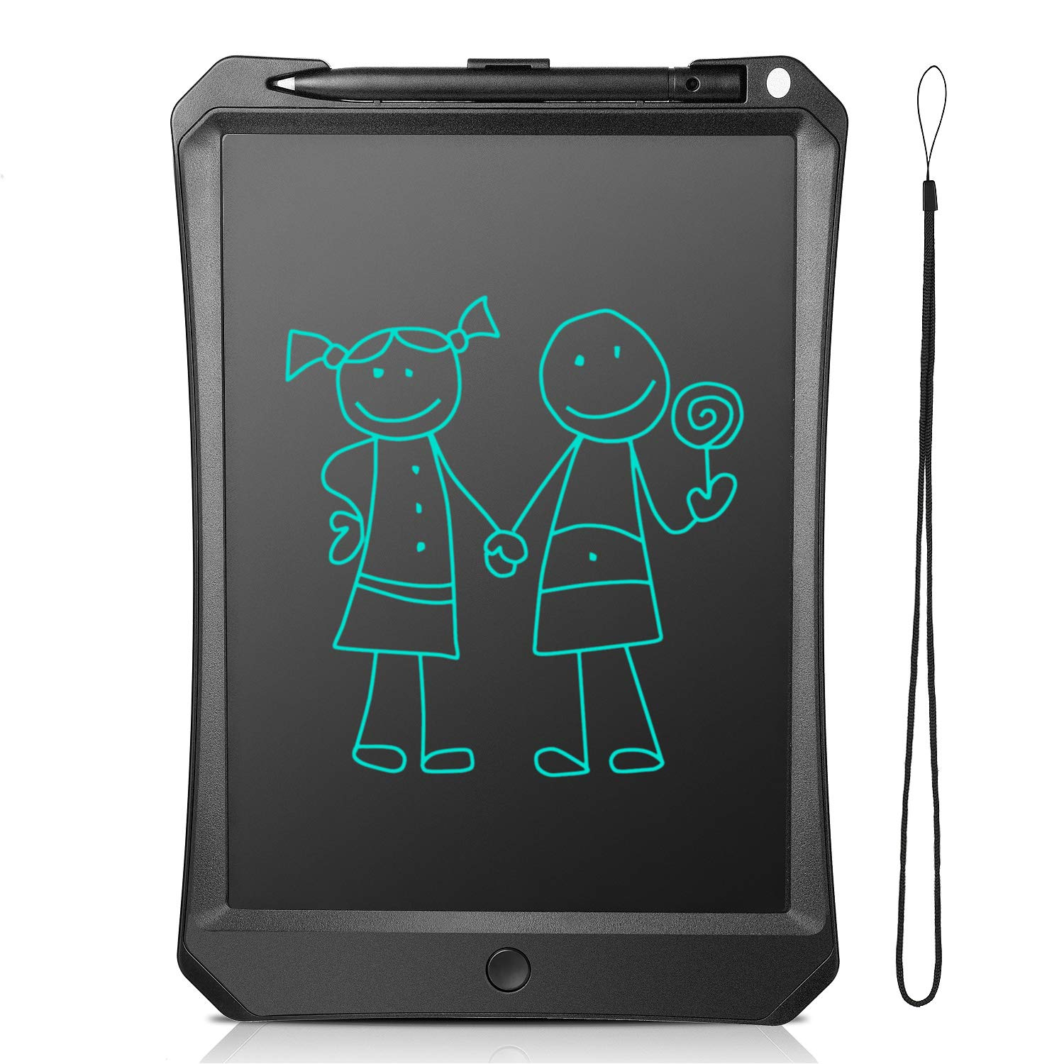 """LCD Writing Tablet 10"""", FlyHi New Gen Electronic Writing & Drawing Doodle Board, Handwriting Paper Drawing Tablet, Kitchen Memo Notice Fridge Board, Daily Planner, Gift for Kids and Adults (Black)"""