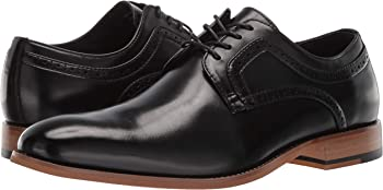 Stacy Adams Men's Dickens Plain Toe Lace-up Oxford Shoes (Black)