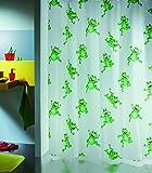 Spirella Frogtime - Cortina de ducha de plástico opaco (180 x 200 cm), color blanco con diseño de ranas