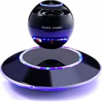 Music Angel freischwebender Lautsprecher mit Bluetooth 4.0 Multifarben LED Kabellos 360° mit Mikrofon (Schwarz)…