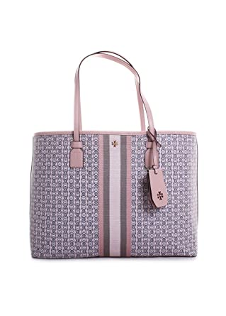 8187e1e399c Image Unavailable. Image not available for. Color  Tory Burch Gemini Link  Canvas Tote in Pink Coastal
