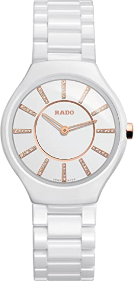 26730533cfa Rado True Thinline Jubile White Ceramic Ladies Watch R27958702  Rado   Amazon.ca  Watches