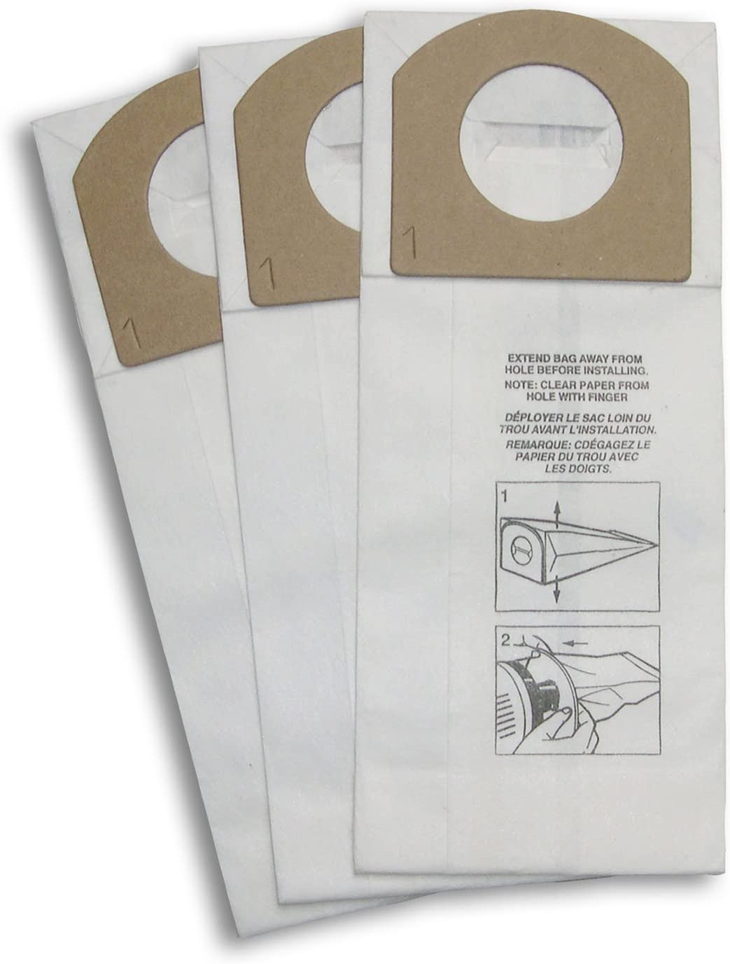 Dirt Devil Type G Microfresh Vacuum Bags (3-Pack), 3103075001