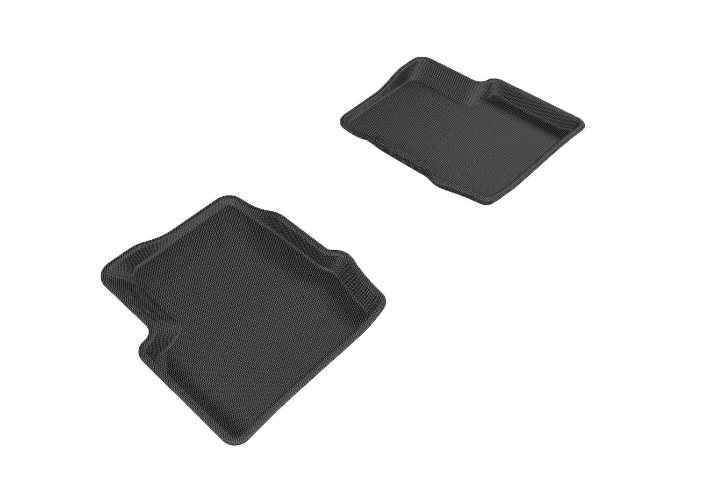 Kagu Rubber L1FA00511509 3D MAXpider Front Row Custom Fit All-Weather Floor Mat for Select Fiat 500X Models Black