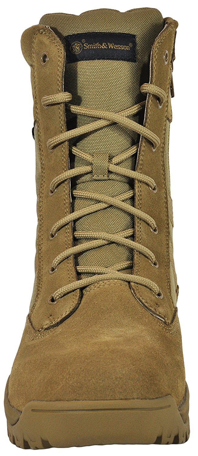 Smith & Wesson Footwear Men's Breach 2.0 Tactical Size Zip Boots, Coyote, 10W by Smith & Wesson (Image #3)