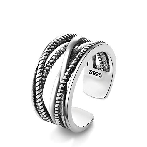 0bbd80b8b0880 Evercreative 925 Sterling Silver Toe Rings Adjustable Band Tail Ring for  Women Girls