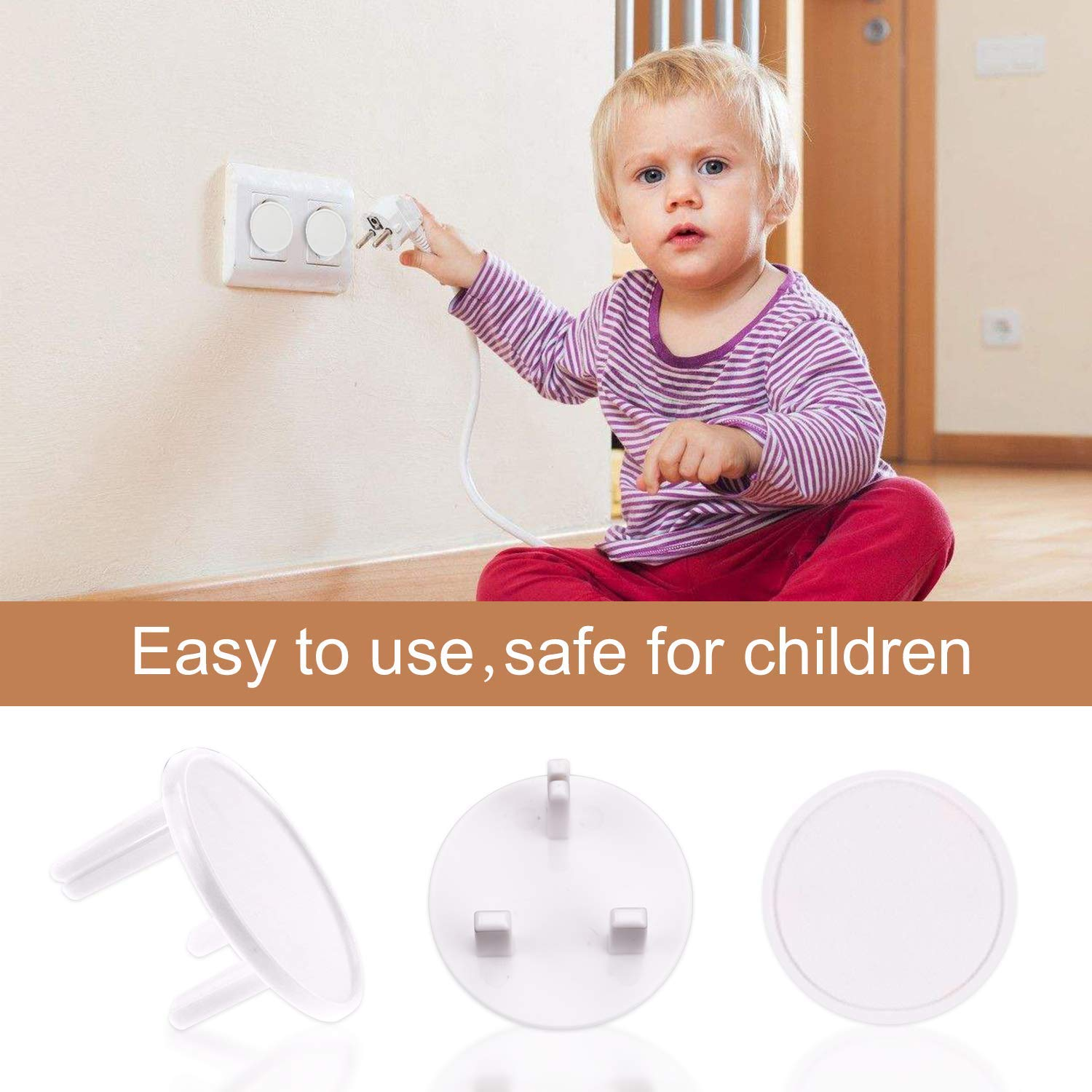 Corner Guards with 5 Packs Plug Socket Covers for Furniture Keep Babies/&Kids Safe Table Against Sharp Corners Ball-Shaped COOLOO 20 Packs Corner Protectors