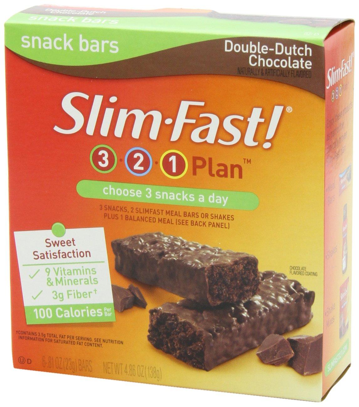 Amazon.com: SlimFast Snack Bars, Double-Dutch Chocolate, 23 grams ...
