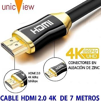 Cable de HDMI 2.0 4K Ultra HD Marca Unicview   Alta Velocidad con ...