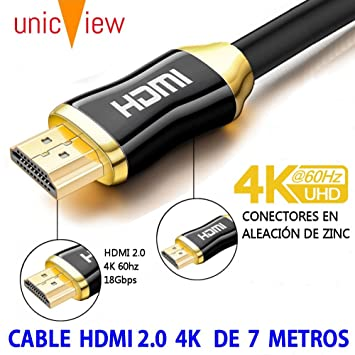Cable de HDMI 2.0 4K Ultra HD Marca Unicview | Alta Velocidad con ...