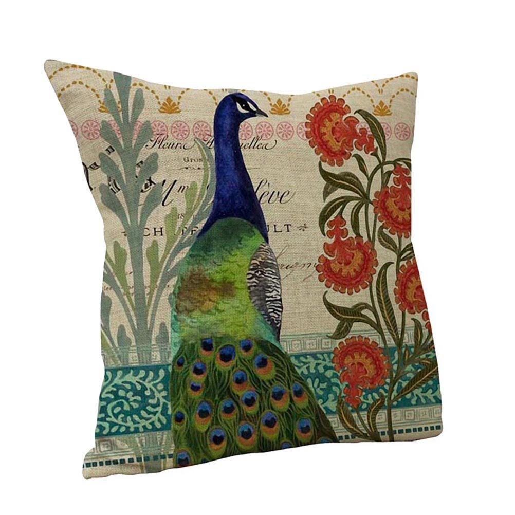 Nunubee Home Sofa Decor Cushion Cover Witch Cat Pumpkin Pillowcase Halloween 10 7005P0585