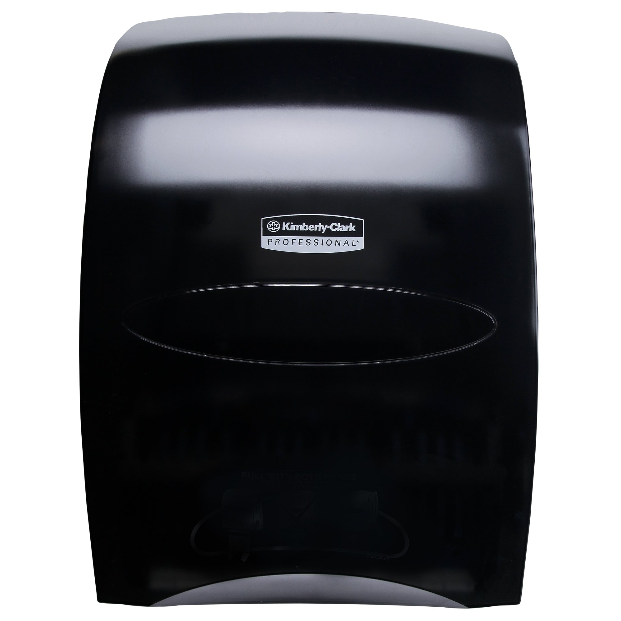 Sanitouch High Capacity Hard Roll Paper Hand Towel Dispenser (09996), Touch-Free Manual, Smoke/Black