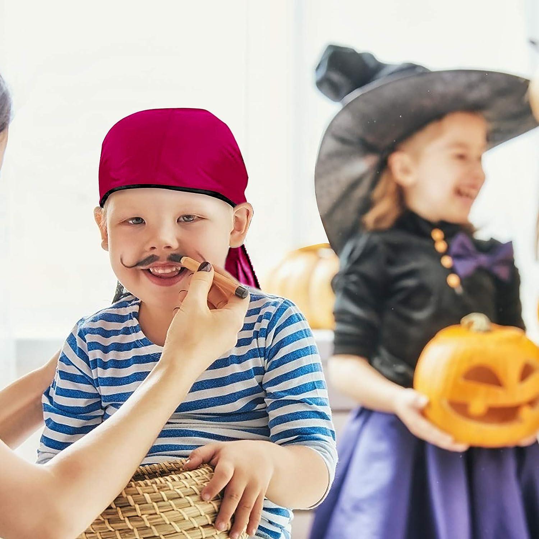 KATOOM 3 Pezzi Set di Bandane Pirata,Foulard con Coda Lunga Accessori per Capelli Cappello Pirata Cappello da Pirata per Festa di Compleanno Pirata in Costume da Pirata