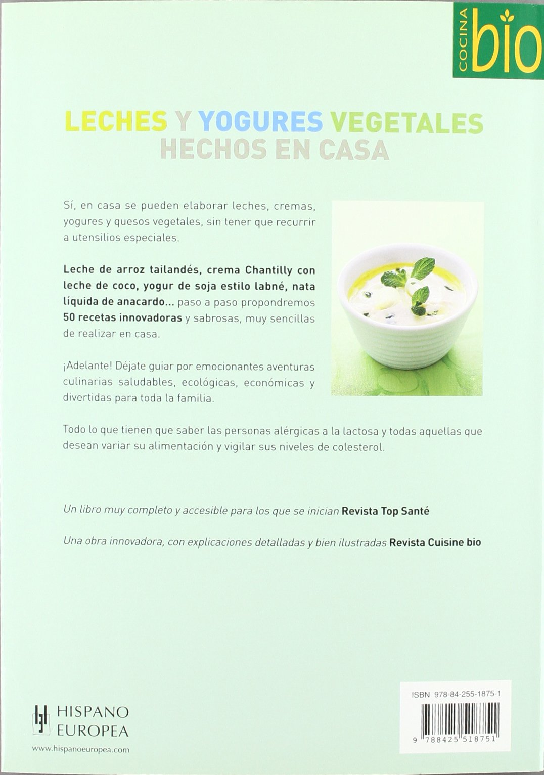 Leches y yogures vegetales hechos en casa. (Cocina Bio / Wholesome Foods) (Spanish Edition): Anne Brunner: 9788425518751: Amazon.com: Books