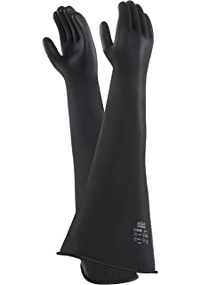 Image result for Chemprotec medium weight natural Rubber Gauntlets