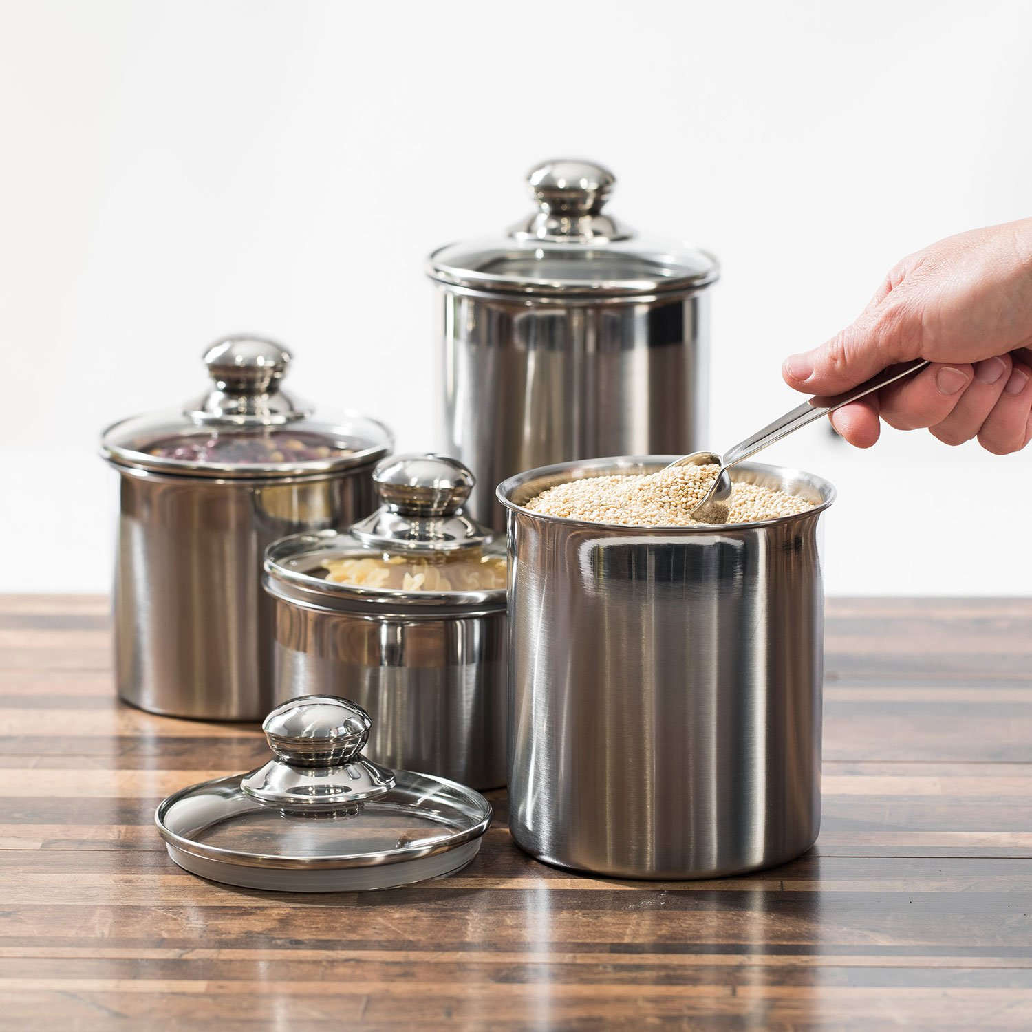 canisters sets for the kitchen beautiful canisters sets for the kitchen counter small sized 4 piece stainless ebay 9336