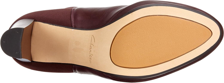Clarks Kendra Glove, Bottes hautes Classiques Femme Violet