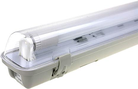 ideal für Keller Außenlampe Garage 2x LED Deckenleuchten Feuchtraumlampe 66cm