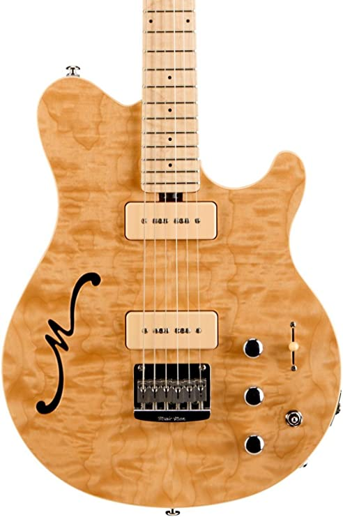Ernie Ball música hombre Axis Super Sport mm90 guitarra de cuerpo hueco eléctrico guitarra con Piezo