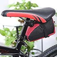 W-top bolsa bicicleta de aire libre MTB bicicleta Saddle Tail cola trasera bolsa de almacenamiento de asiento (Rojo)