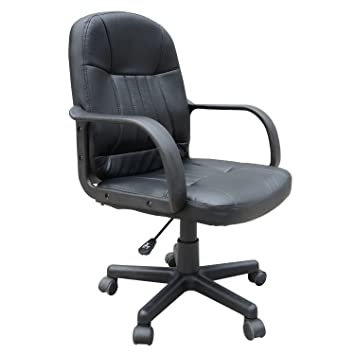 Homcom Swivel Executive Office Chair PU Leather Computer Desk