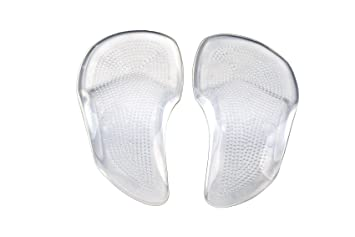 6c9c921f9ec Image Unavailable. Image not available for. Color  Kkika 1 Pair 2PCS Silicone  Gel Orthotic Arch Pad Insole Flat Foot Care ...