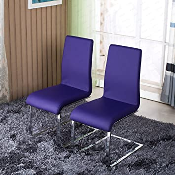 Schindora 2x Dining Chair Faux Leather Dining Chairs With Chrome Legs  Furniture  Purple Schindora 2x Dining Chair Faux Leather Dining Chairs With Chrome  . Purple Leather Dining Chairs Uk. Home Design Ideas