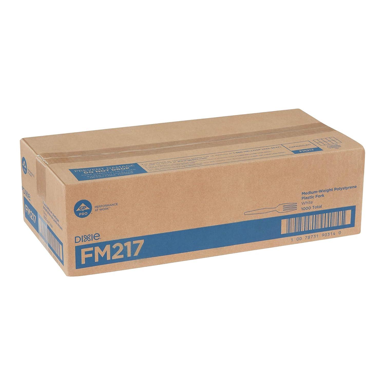 FM517 1000//carton Black Dixie Heavy-medium Weight Fork Polystyrene