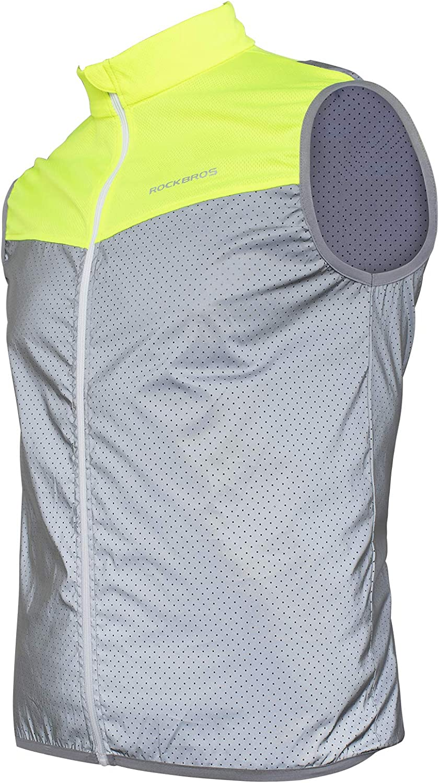Running Walking Jogging Sports Cycling Windbreaker Reflective Safety Vest S-3XL