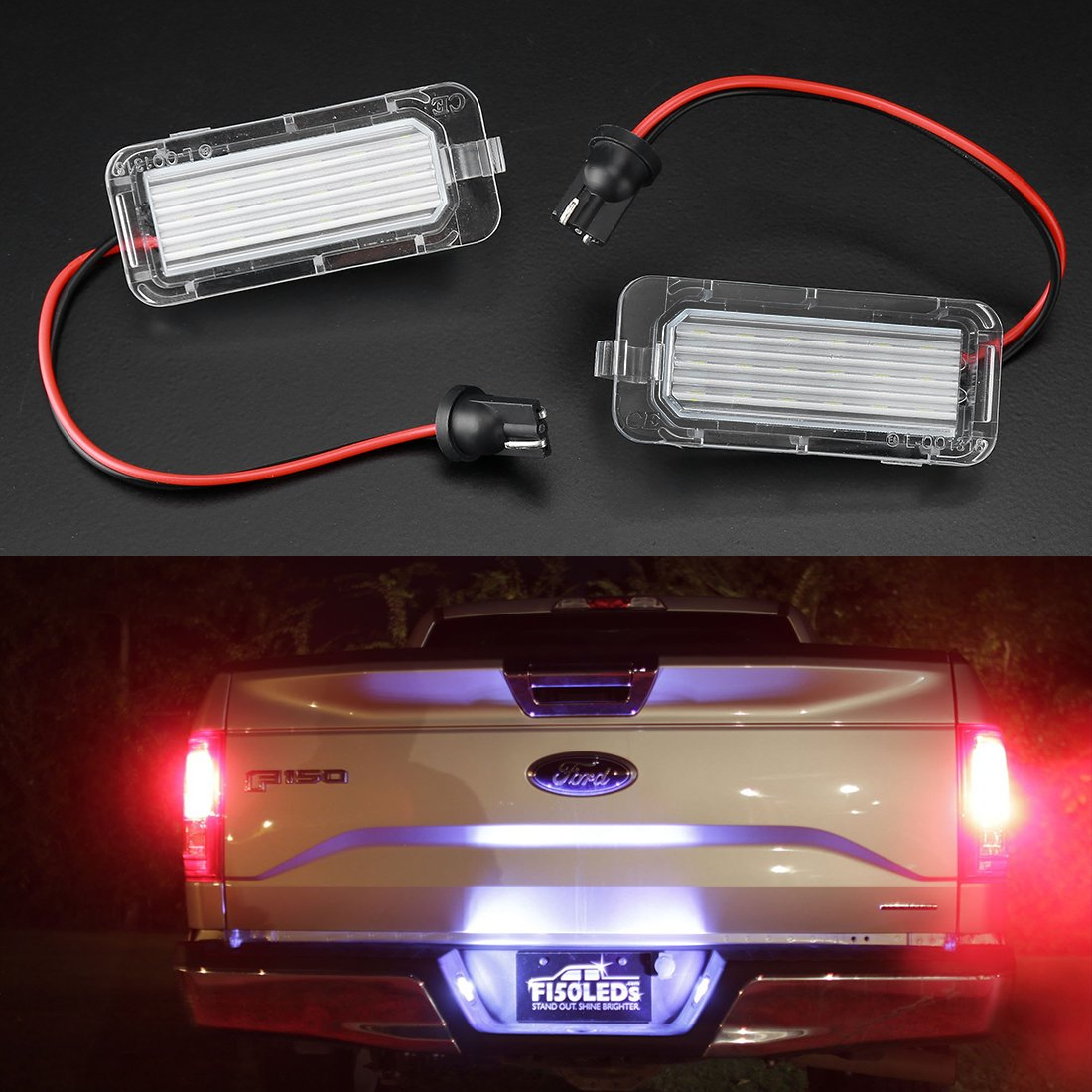 SUPREEE White LED Canbus License Number Plate Light SUPAREE