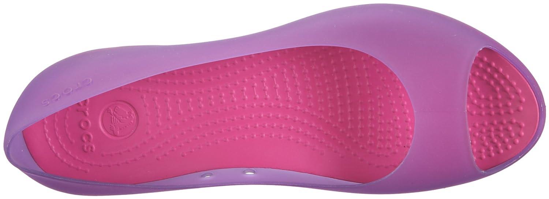 Crocs Carlie Flat Violett/Dahlia/Fuchsia W4 11277 Damen Ballerinas Violett/Dahlia/Fuchsia Flat 719356