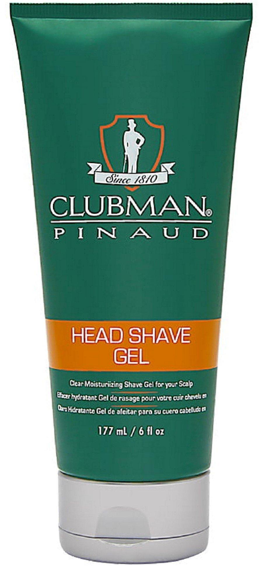 Clubman Pinaud Head Shave Gel 6 oz (Pack of 12)
