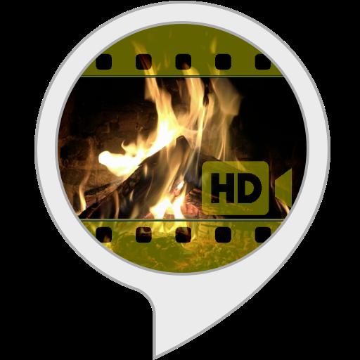Visuels Ambiants: Feu de cheminée