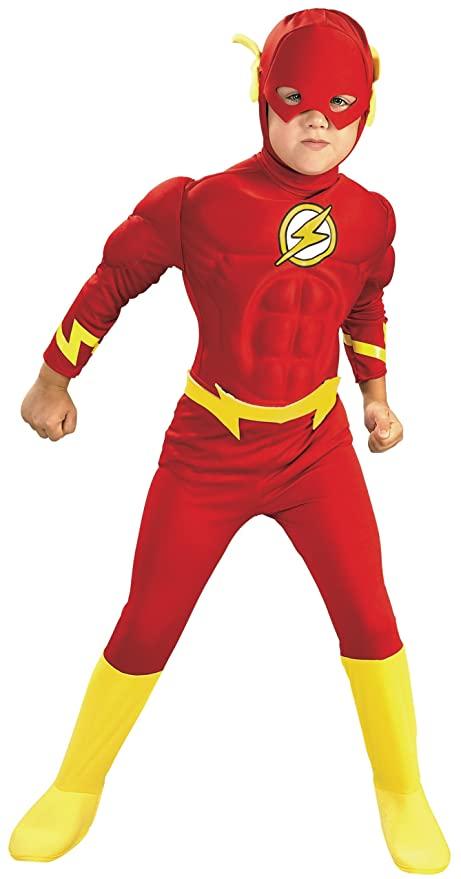 Rubies DC Comics Deluxe Muscle Chest The Flash Costume Toddler  sc 1 st  Amazon.com & Amazon.com: Rubies DC Comics Deluxe Muscle Chest The Flash Costume ...