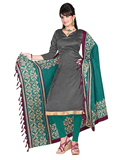 da714b622e Yehii Women's Silk Grey Plain / Solid dress material Unstitched Salwar  Kameez Dupatta for women party wear low price Below Sale Offer: Amazon.in:  Clothing & ...