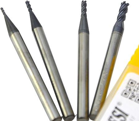 5pcs 6mm x 50mm Tungsten Carbide 4 Flute End Mill CNC Milling Cutter TIALN ∩