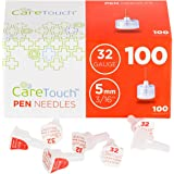 Care Touch Insulin Pen Needles 32 Gauge, 3/16 Inches, 5mm - 100 Pen Needles