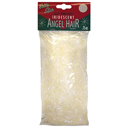 brite star christmas decorations iridescent angel hair dcor