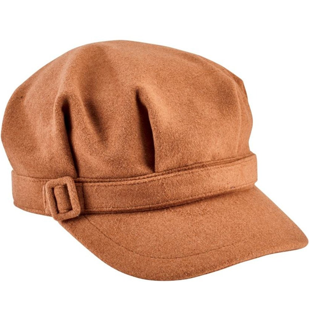 San Diego Hat Company Women's Fabric Buckle Trim Cap, Camel, One Size