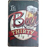 iTemer Tin Advertising Sign It's Beer Retro Hanging Metal Wall Tin Sign