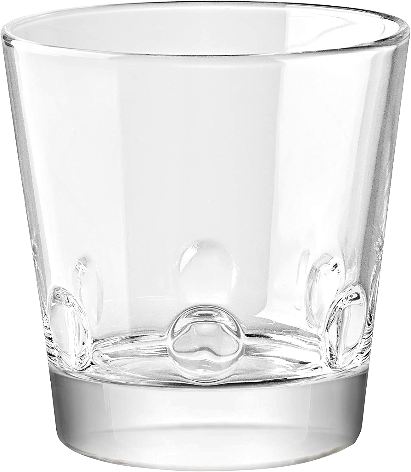 Double Old Fashioned Tumbler Glasses Uniquely Designed Wont Get Stuck Design on The Base Barski European Glass Stackable Set of 6-13.5 oz - Made in Europe