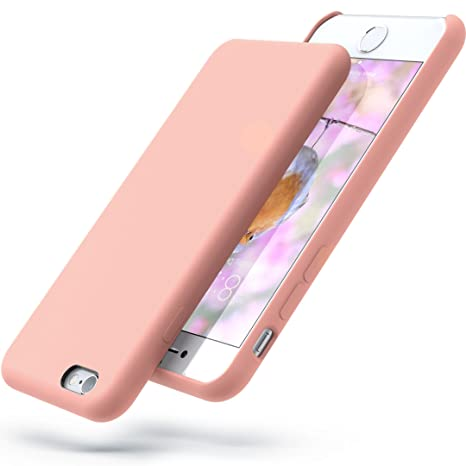 Power Bear Silicone I Phone 6s Case/I Phone 6 Case Soft Touch Liquid Silicone Gel Rubber Case   Shock Absorption And Anti Scratch Finish   For The Apple I Phone 6/6 S   Pink by Power Bear