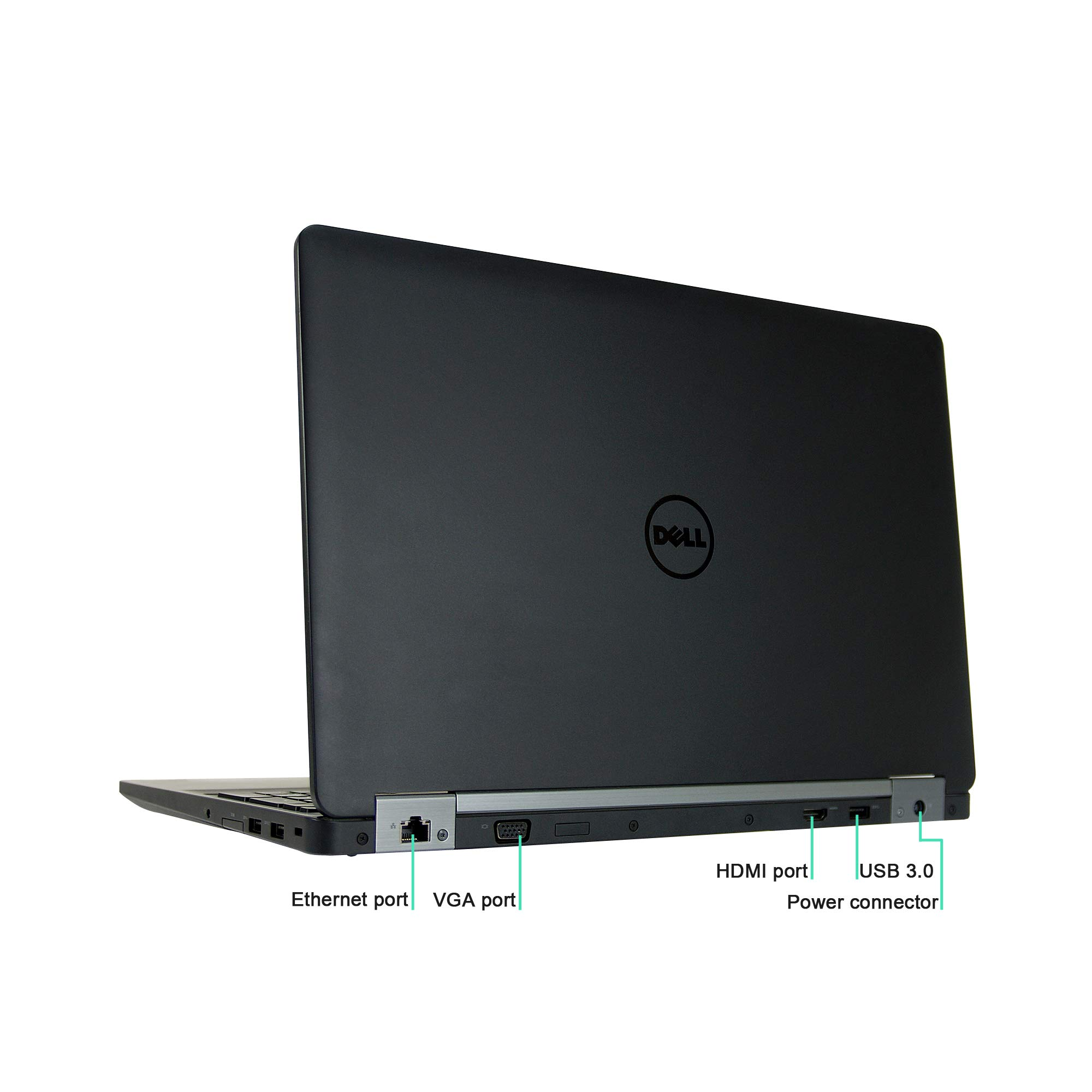 Dell Latitude E5570 15.6in Laptop, Core i5-6300U 2.4GHz, 8GB Ram, 256GB SSD, Windows 10 Pro 64bit (Renewed)