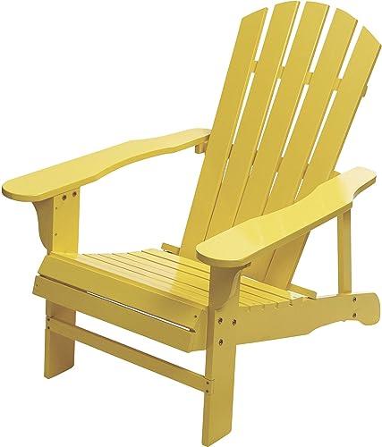 Classic Painted Acacia Wood Adirondack Chair