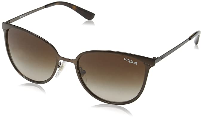 Vogue 0Vo4002S Gafas de sol, Matte Brown Burnt, 55 para Mujer