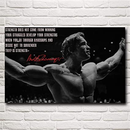 Amazon com: NATVVA Bodybuilder Arnold Schwarzenegger Art