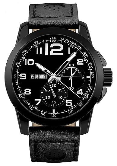 Camiseta de running de cuarzo reloj Hombre Fashion Casual relojes Montre Homme de piel resistente al agua relojes de pulsera: skmei: Amazon.es: Relojes