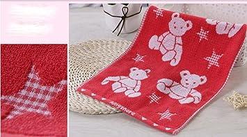 GYX algodón toalla satén bordado algodón Niños Limpia pequeño Toalla para la cara suave Agua