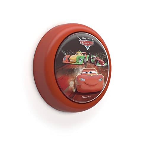 Philips Battery Operated Disney Cars Children's Portable LED Night Light, 0.3 W - Red